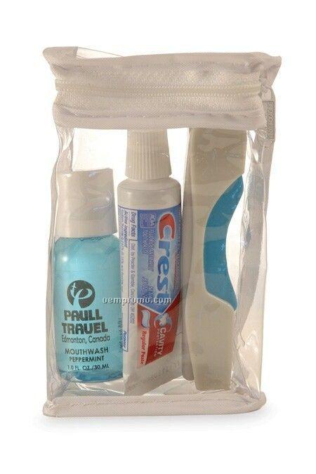Mini Oral Care Kit W/ Toothbrush & Toothpaste (3 Piece Set)