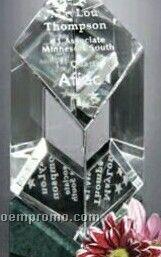 "Verde Gallery Crystal Vicksburg Award (6 1/2"")"