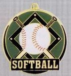 """2"""" Color-filled Stock Medal - Softball"""