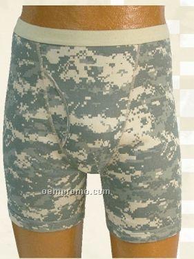 Men's Army Digital Camouflage Gi Boxer Brief Underwear