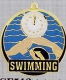 "2"" Color-filled Stock Medal - Swimming"