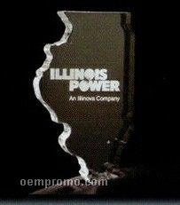 Acrylic Paperweight Up To 20 Square Inches / Illinois
