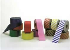 Solid Colored & Striped Gummed Paper Tape