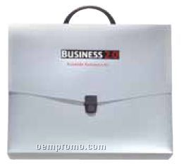 """Standard Deluxe Poly Plastic Briefcase W/ Handle - 14""""X12""""X3"""""""