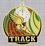 """2"""" Color-filled Stock Medal - Track"""
