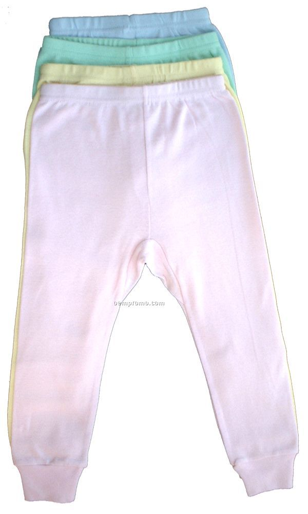 Pastel Rib Knit Long Pants