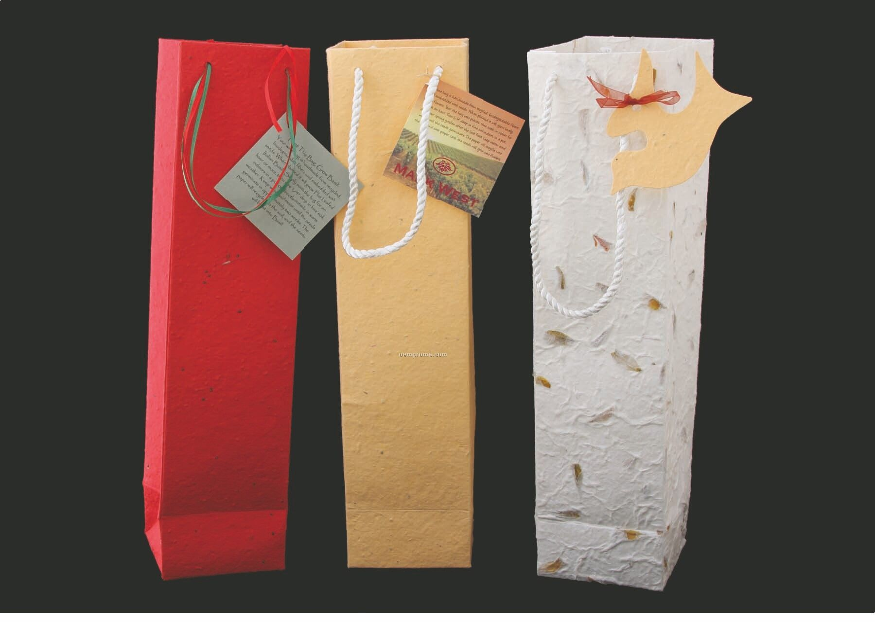 """Wine Gift Bag With 3-1/2"""" Gusset"""