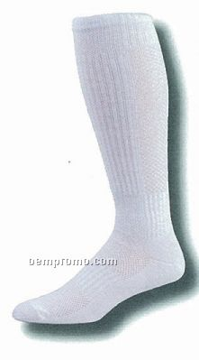 Breathable Mesh Calf Volleyball Socks W/ Ankle & Arch Support (10-13 Large)