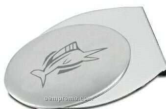 Merit Matte Silver Plated Zinc Alloy Money Clip