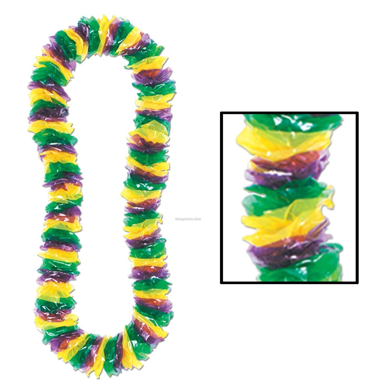 Soft Twist Mardi Gras Poly Leis