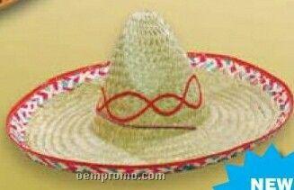 Sombrero Hat W/Imprinted Vinyl Band