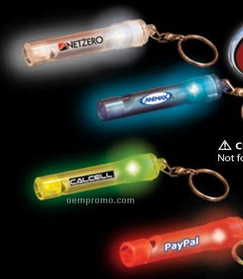 """5"""" Blue Light-up Whistle Keychain"""