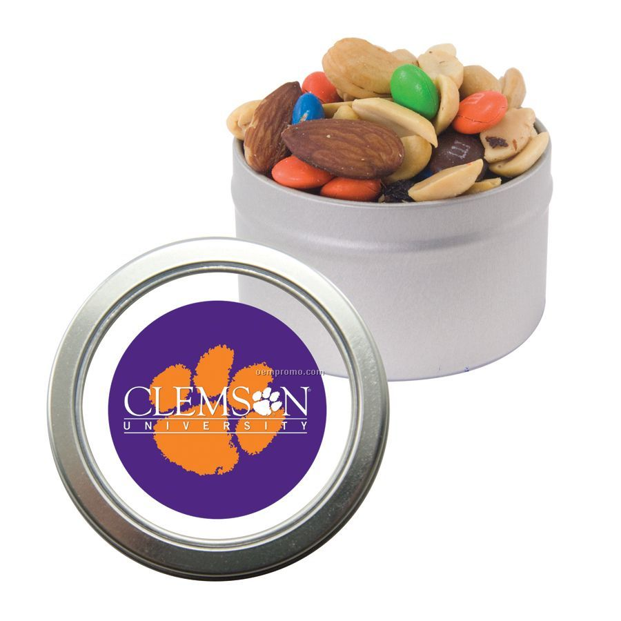 Candy Window Tin With Trail Mix