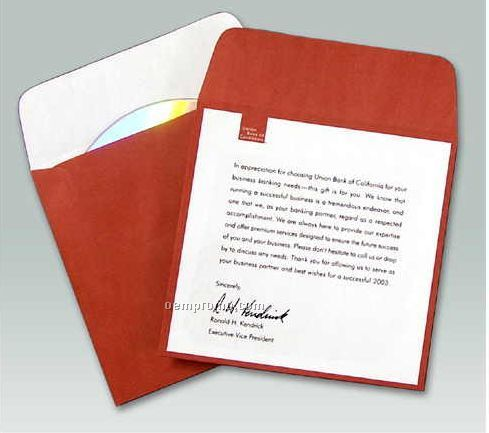 Custom Printed Paper Media Sleeve With Flap (4-color Process)