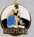 "2"" Color-filled Stock Medal - Wrestling"