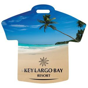 Beach scene t shirt luggage tag china wholesale beach for T shirt tags wholesale