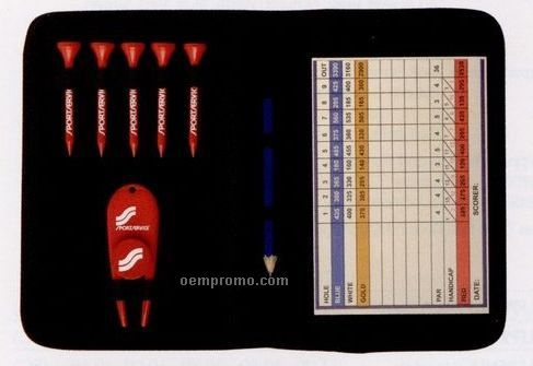 Scorecard Wallet Pro Pack W/ Divot Ball Marker & 5 Golf Tees