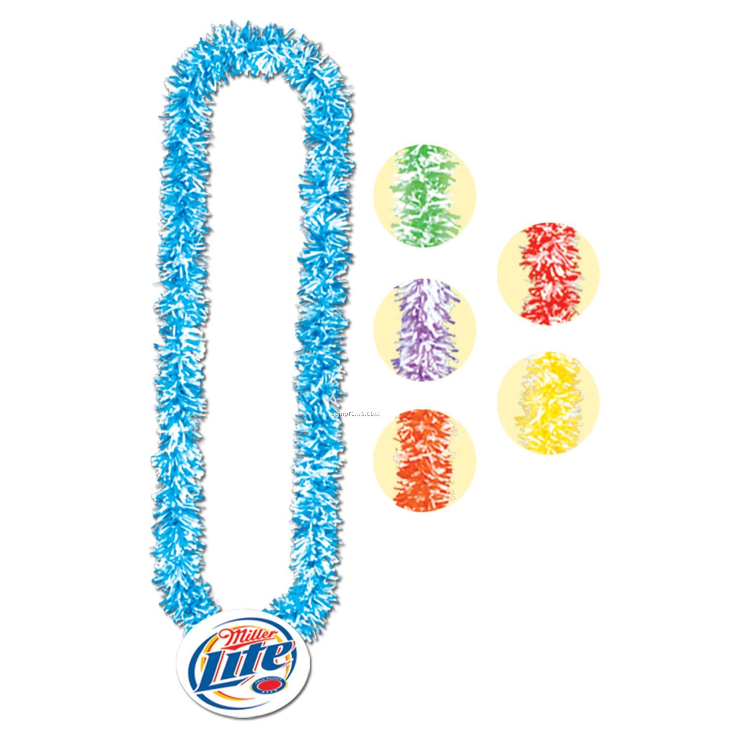 """36"""" Soft-touch Poly Leis W/ 2 1/2"""" Plastic Medallion"""
