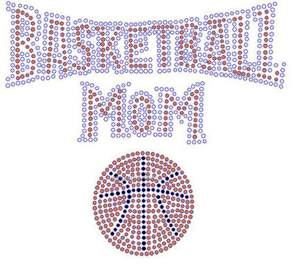 Basketball Mom Rhinestone Transfer