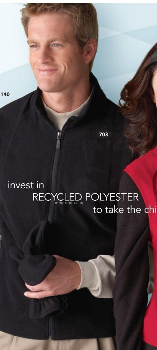 Men's North End Recycled Polyester Fleece Full Zip Vest