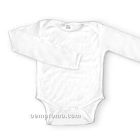 White Infant Long Sleeve 1 X 1 Rib Knit Onesie 3-pack