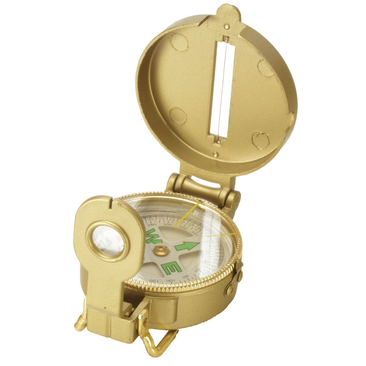 Gold Survival Compass W/ Magnifying Glass