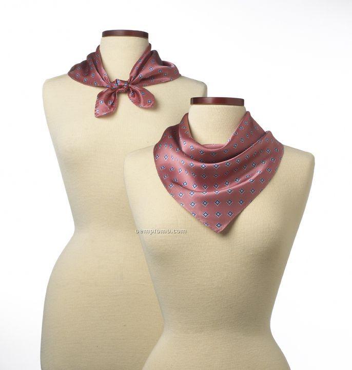 "Wolfmark Pink Vasari Polyester Scarf (21""X21"")"