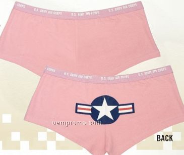 Women's Pink Army Air Corps Booty Underwear