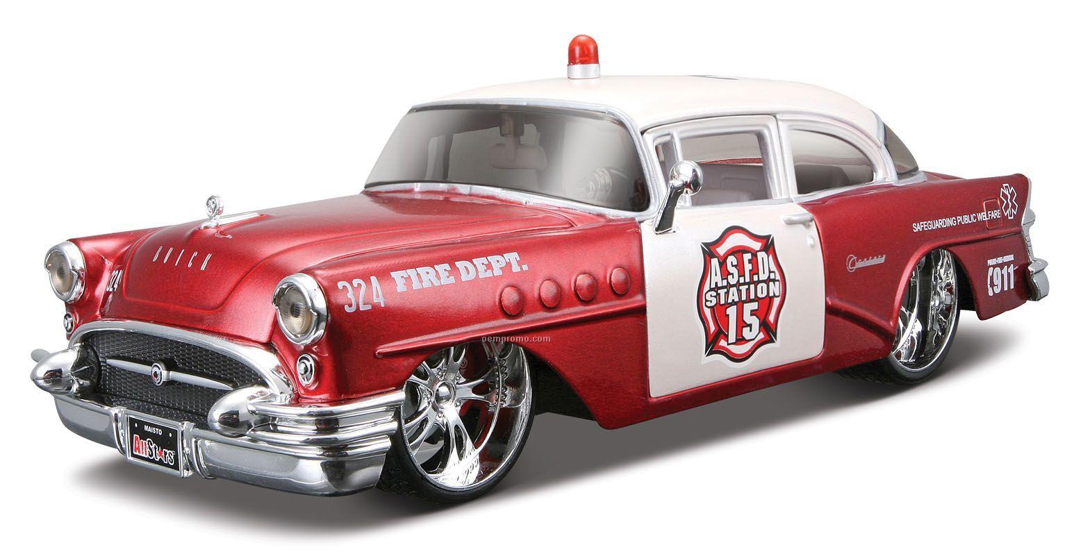 "7""X2-1/2""X3"" 1955 Buick Century Police All Star Series Die Cast Replica"
