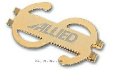 Dollar Sign I Clip W/ Pouch