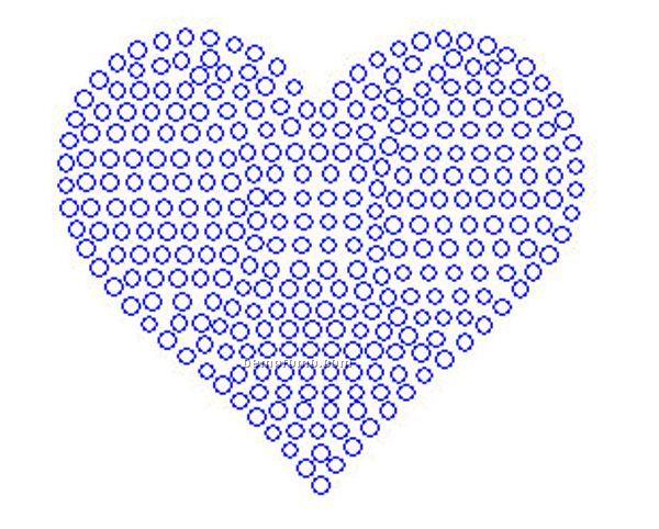 "Heart Rhinestone Transfer (3.4""X3"")"