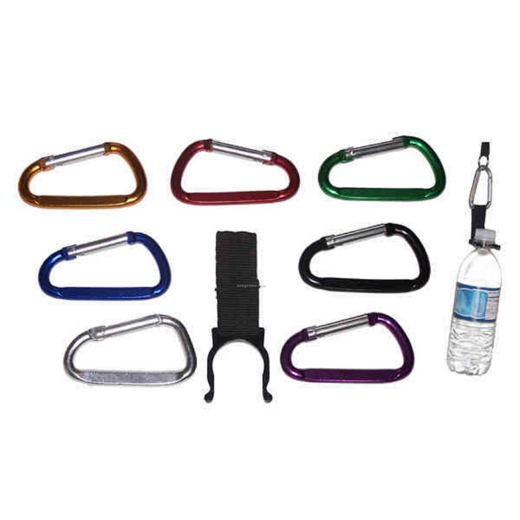 Carabiner With Water Bottle Holder