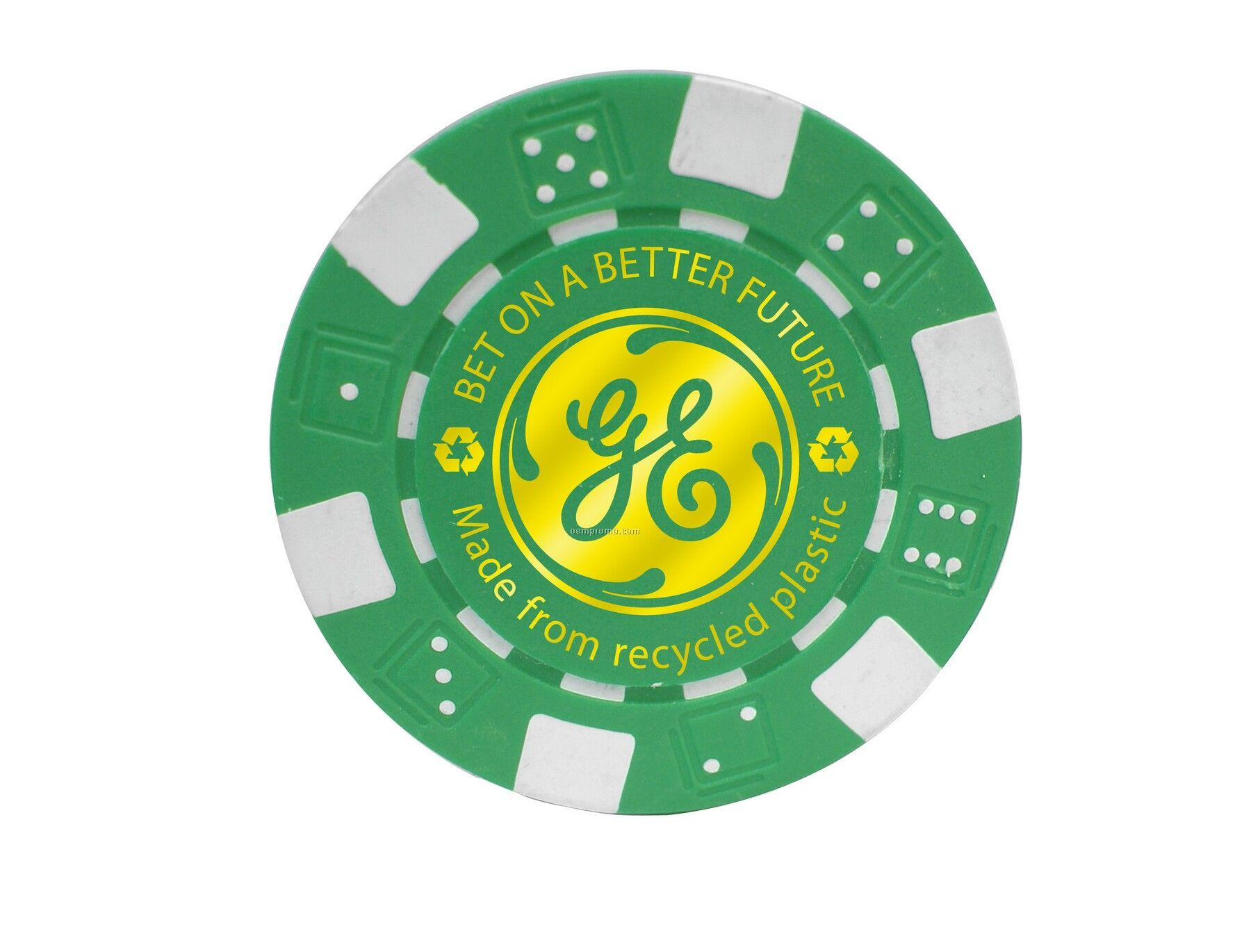 Eco Friendly Poker Chip (1 Side Imprint)