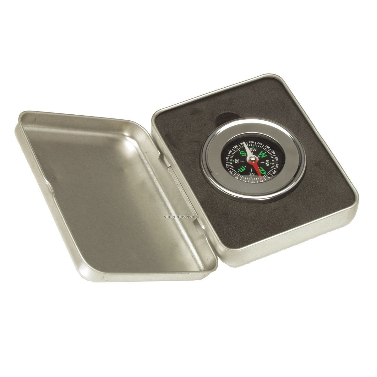 Executive Round Compass W/ Rectangle Case