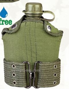 Gi Military Plastic Canteen With Cover & Pistol Belt