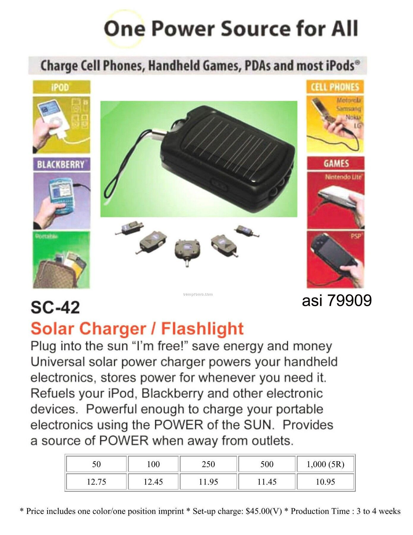 Solar Charger For Ipod, Blackberry