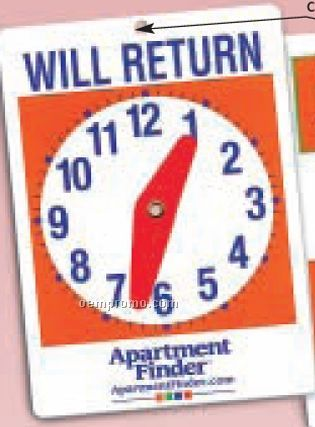 image about Will Return Sign Printable named Will Return Clock Indicator For Doorways,China Wholesale Will Return