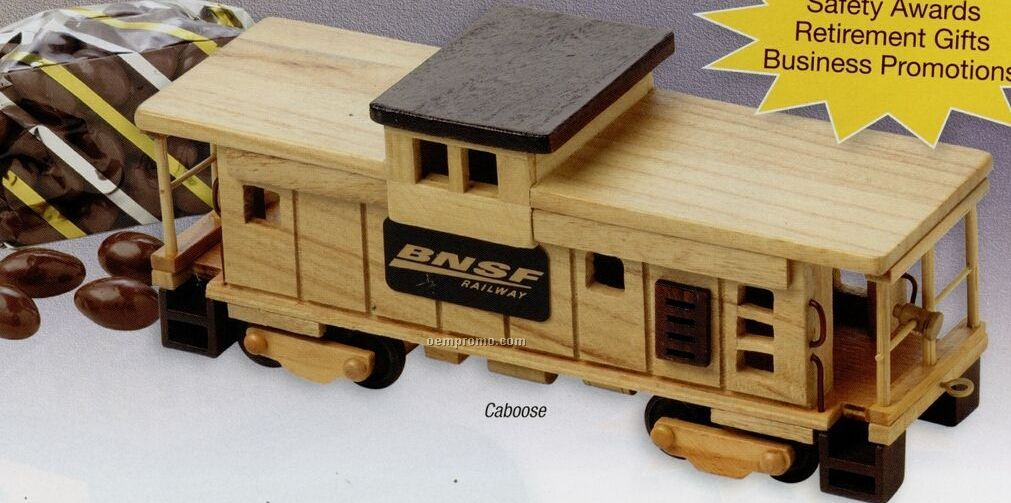 Wooden Train Caboose (Empty)