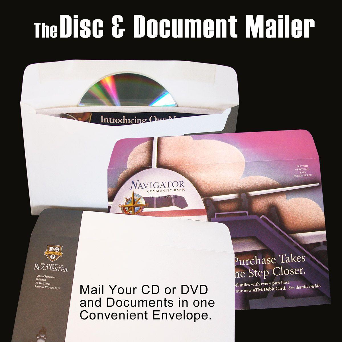 Disc & Document Mailer - 4 Color Disc & Document Mailer