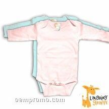 Infant Long Sleeve Cotton Onesie ( Pastel Colors)