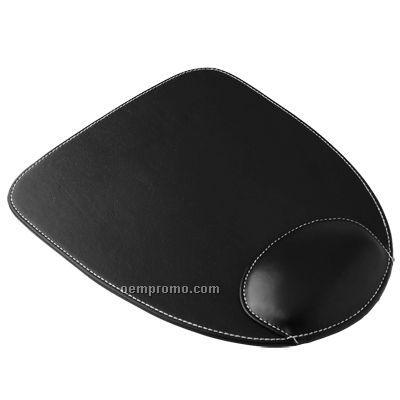 Pu Mouse Pad With Wrist Cushion (U Shape)