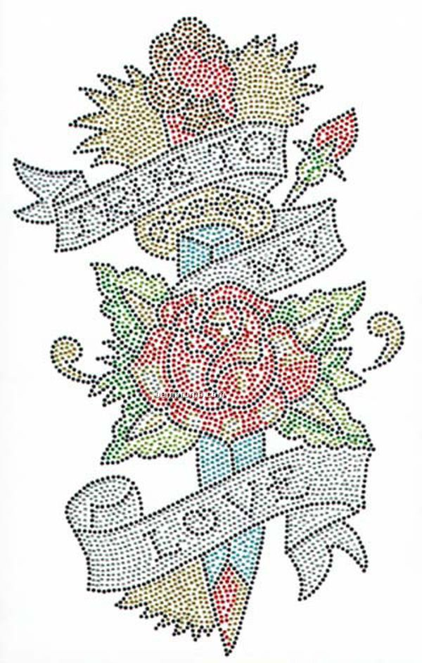True To My Love Rhinestone Transfer