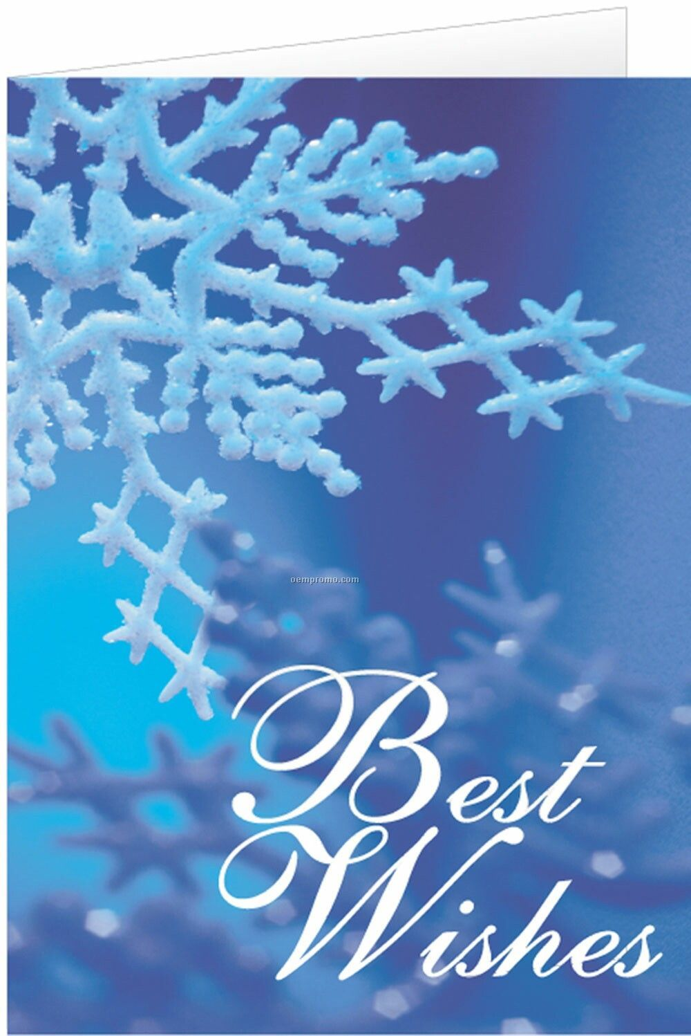 Blue snowflake best wishes holiday greeting cardchina wholesale blue snowflake best wishes holiday greeting card m4hsunfo