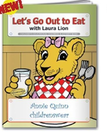 Coloring Book - Let's Go Out To Eat W/Laura Lion
