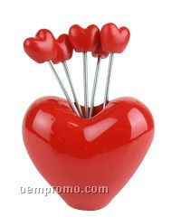 Heart-shaped Fruit Fork