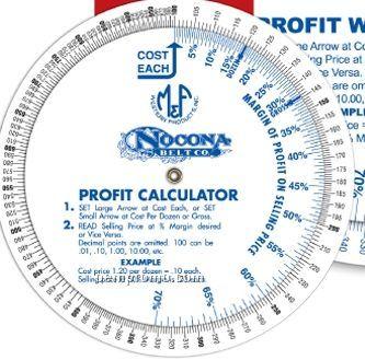 "Profit Calculator Double Wheel - 4"" Diameter"