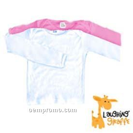 White Infant Long Sleeve Cotton Onesie