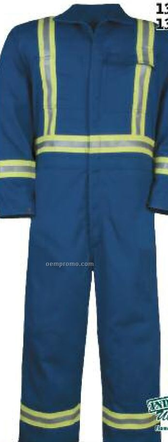 "9 Oz. Ultra Soft Coverall W/ 2"" Enhanced Visibility Trim (38""-50"" Waist)"