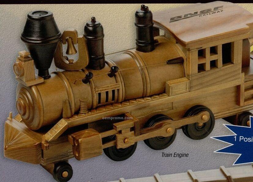 Wooden Train Engine W/ Jumbo Cashews