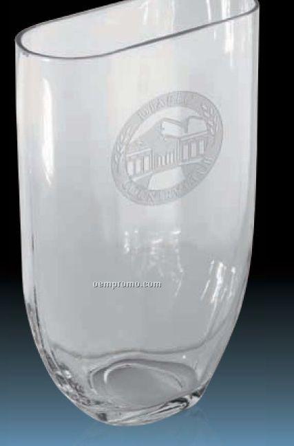 "Oval Glass Vase Award / 12"""